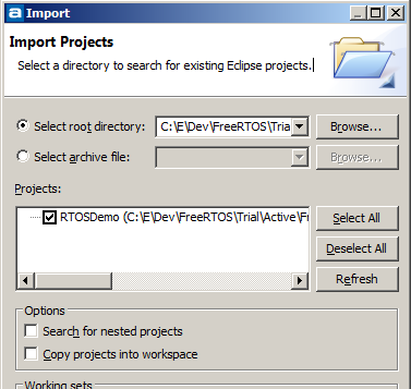 Running FreeRTOS TCP and FAT file system examples on an ST