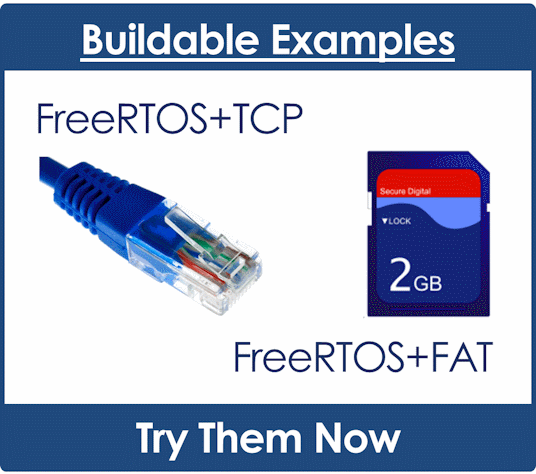 FreeRTOS+TCP Example Projects